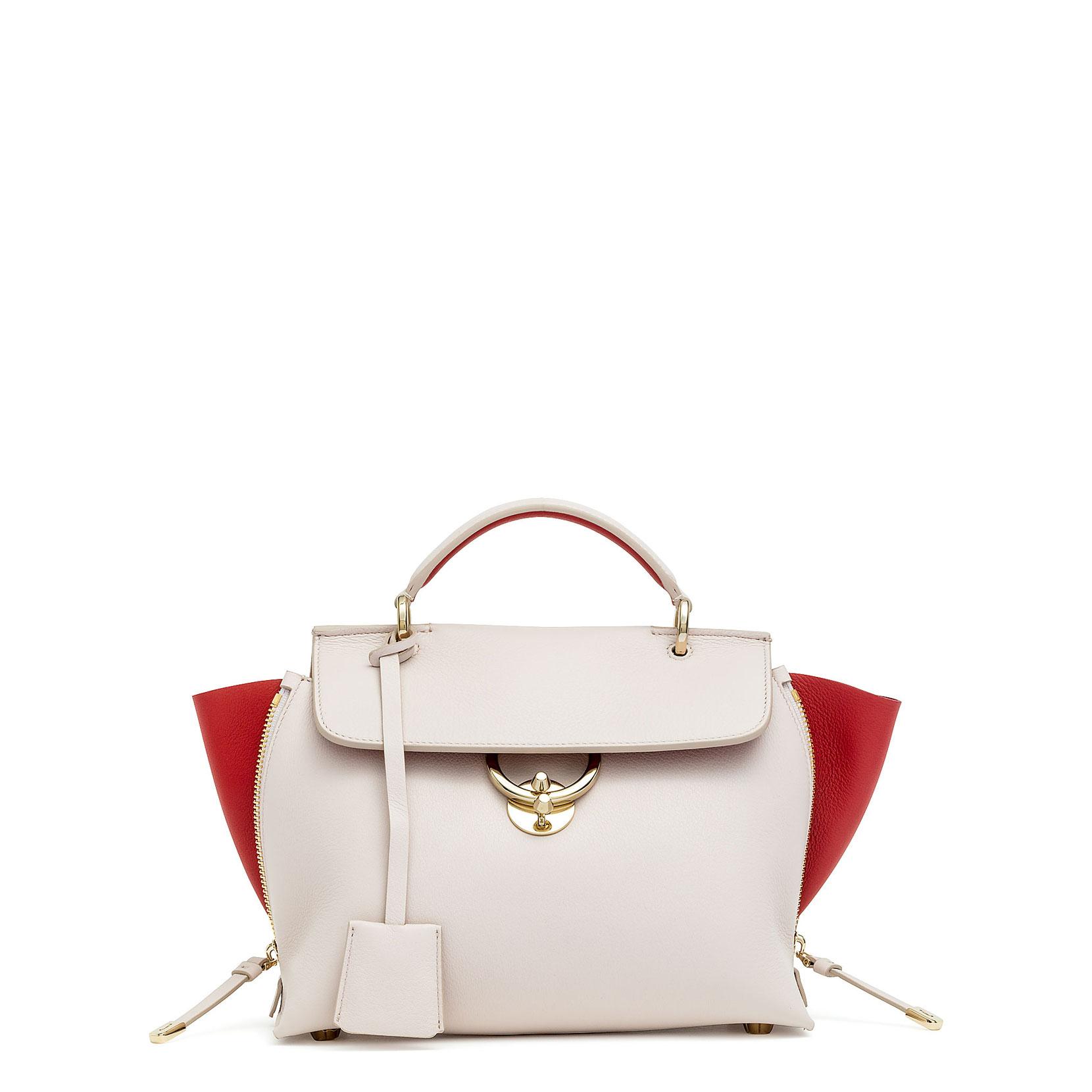 4ddd57253a607 Salvatore Ferragamo Jet Set S Off White (Jasmine) Leather Bag In Beige/White