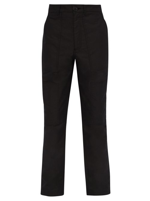 Givenchy Mid Rise Cotton Blend Cargo Trousers In Black