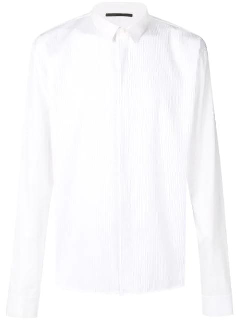 Haider Ackermann Pintuck-pleated Cotton-poplin Shirt In White