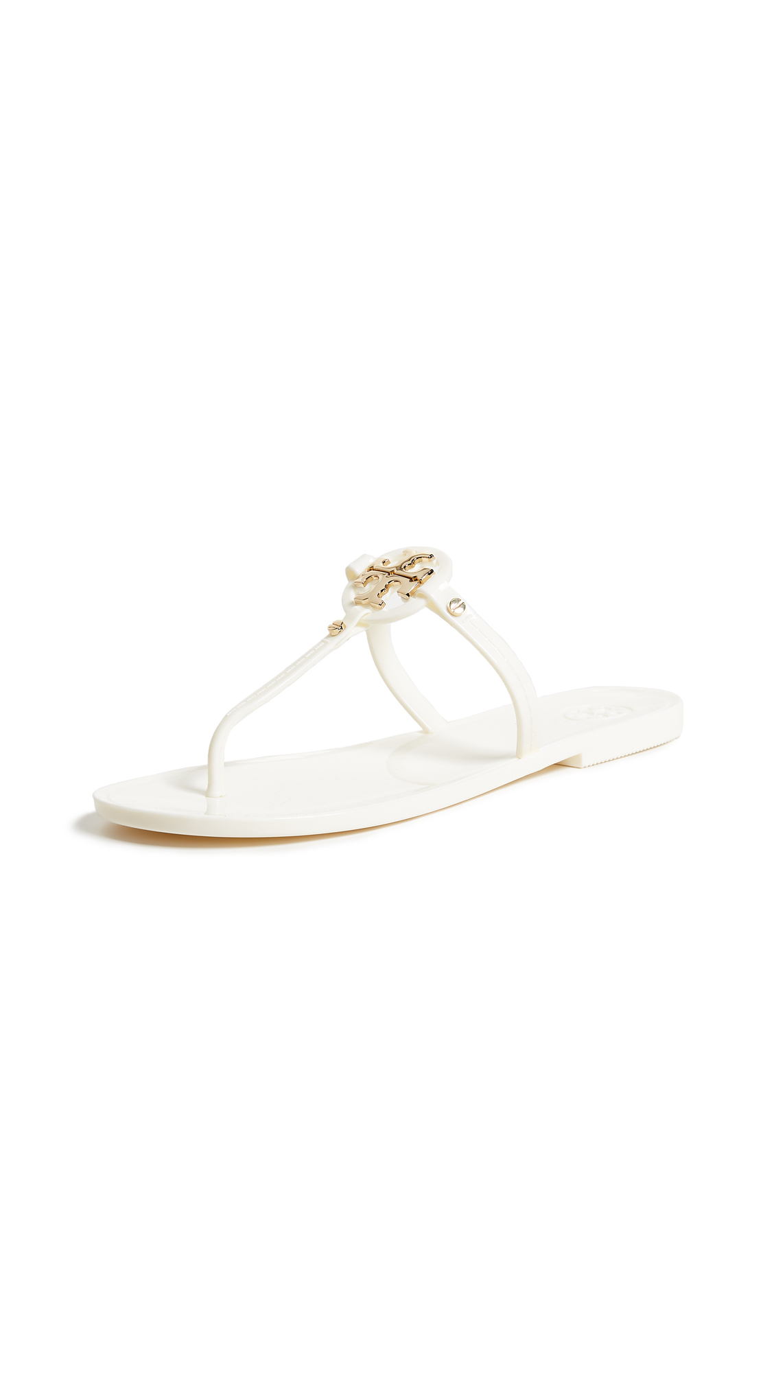 7507b8c71363a Tory Burch Mini Miller Jelly Flat Thong Sandals In Ivory