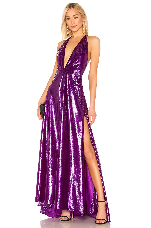 Michael Lo Sordo Alexandra Maxi Dress In Purple