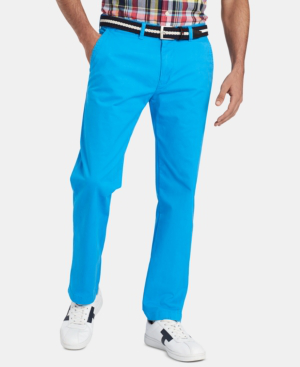 5c9c2b7b5 Tommy Hilfiger Men's Th Flex Stretch Custom-Fit Chino Pant, Created For  Macy's In