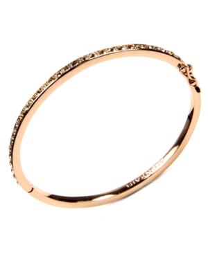 Bracelet, Silk Swarovski Element Bangle In Rose Gold