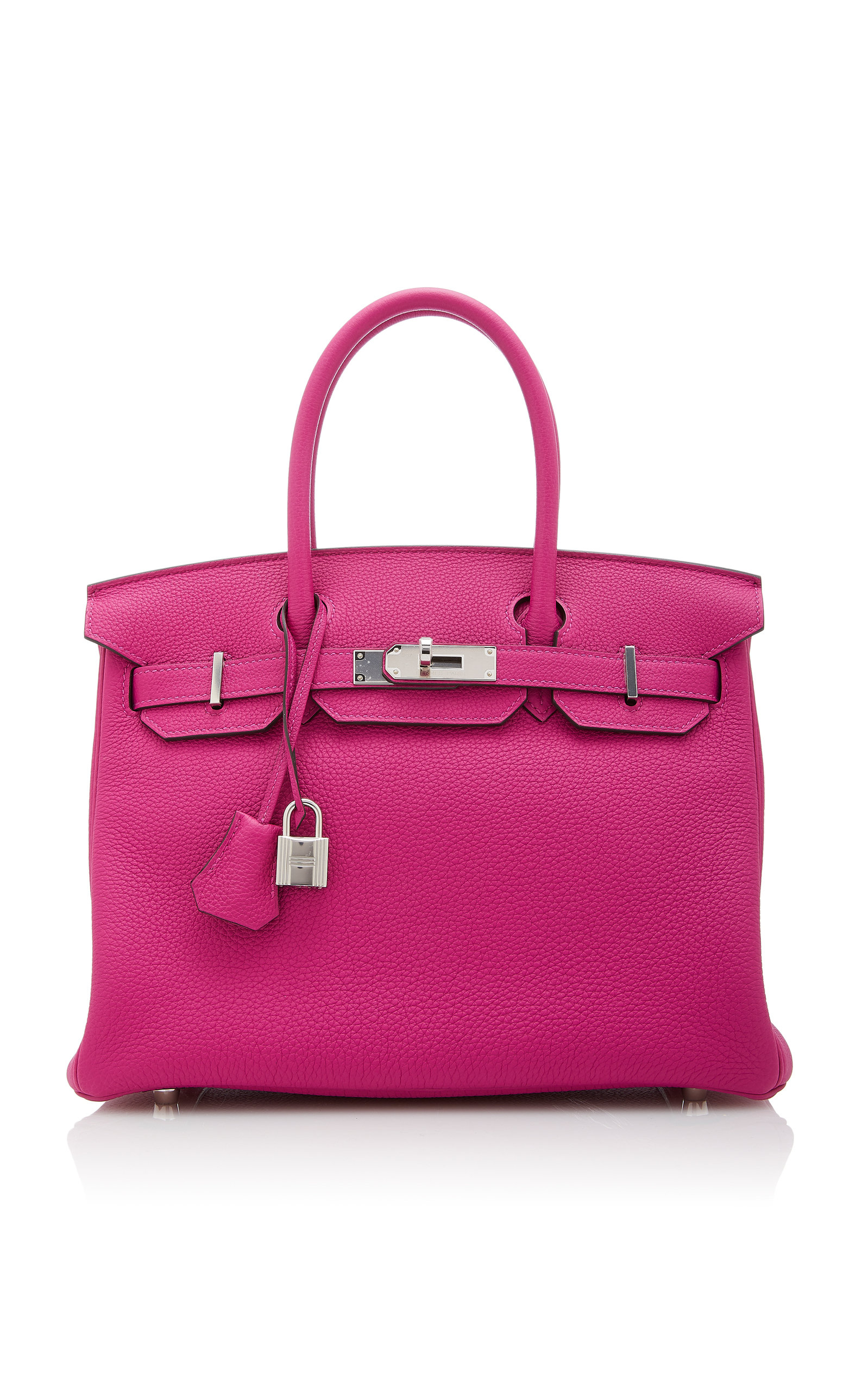 HermÈS Vintage By Heritage Auctions HermÈS 30Cm Rose Pourpre Togo Leather Birkin In Pink