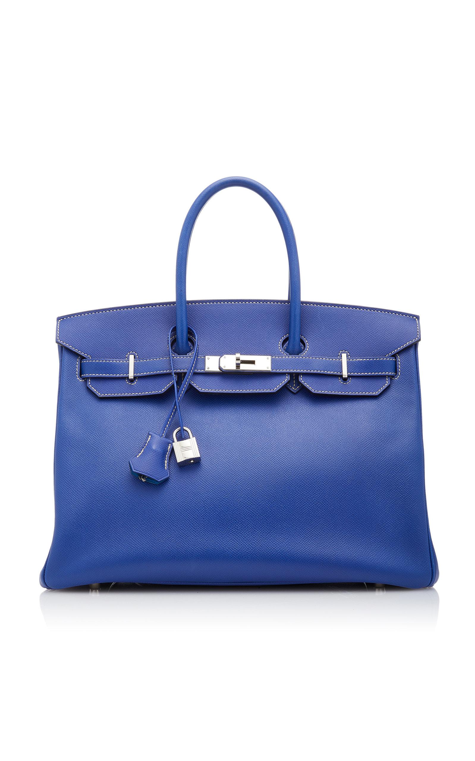 HermÈS Vintage By Heritage Auctions HermÈS 35Cm Blue Electric Epsom Leather Candy Birkin