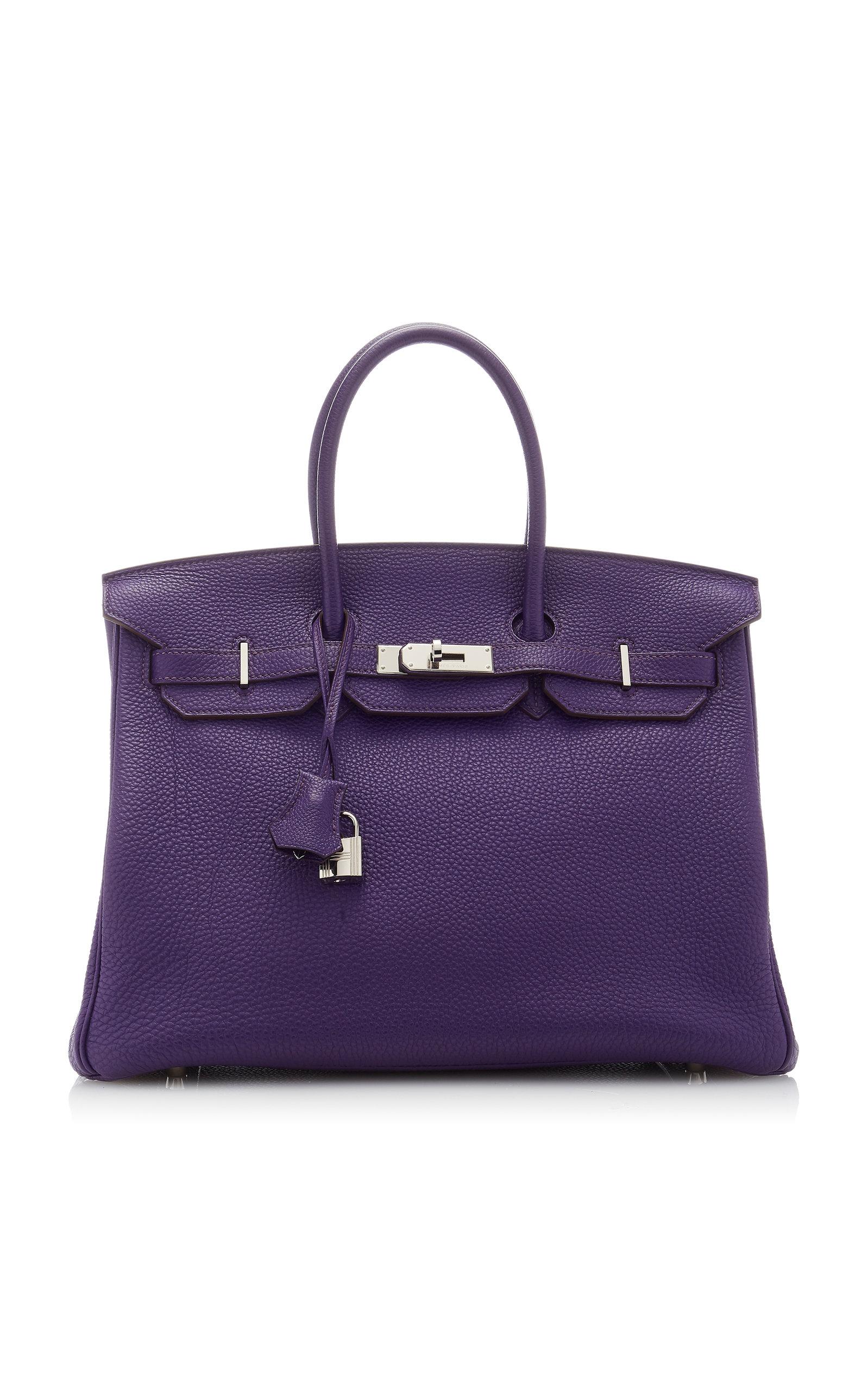 HermÈS Vintage By Heritage Auctions HermÈS 35Cm Iris Togo Leather Birkin Bag In Purple
