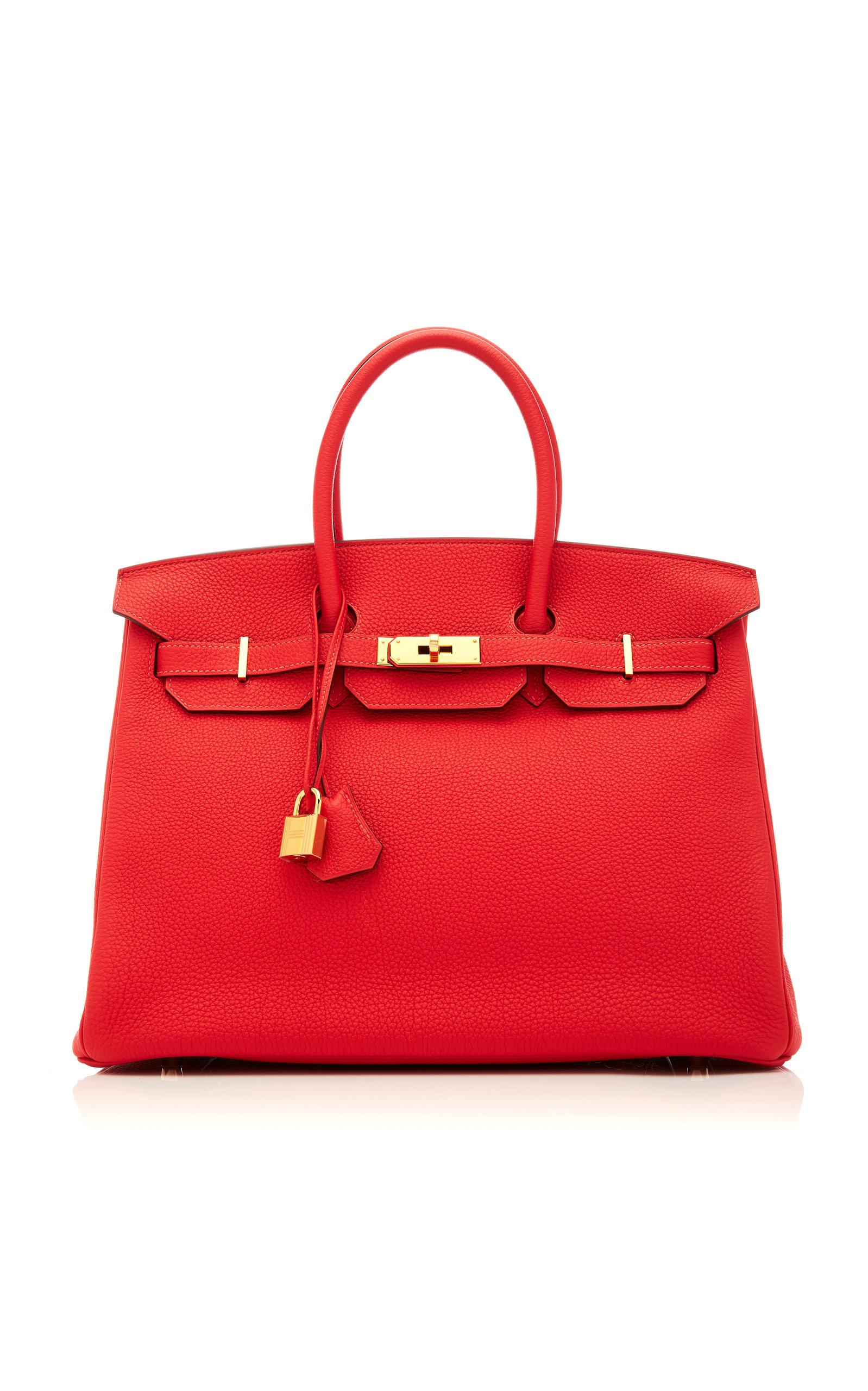 HermÈS Vintage By Heritage Auctions HermÈS 35Cm Rouge Pivoine Togo Leather Birkin In Red