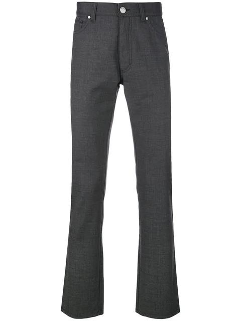 Ermenegildo Zegna Slim-fit Tailored Trousers In Grey