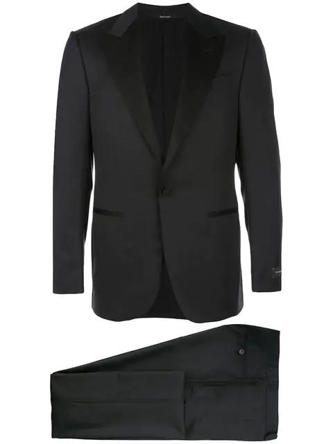Ermenegildo Zegna Fitted Dinner Suit In Black