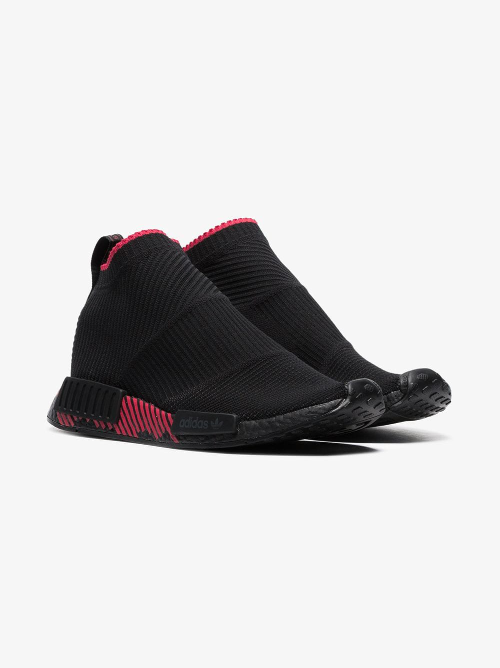 b9bd7d44f77e7 Adidas Originals Adidas Black And Red Nmd Racer Solar Sneakers ...