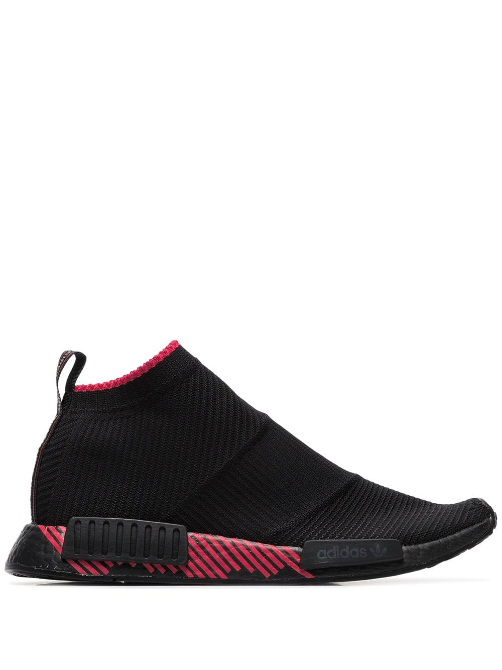 2c90c782427db Adidas Originals Adidas Black And Red Nmd Racer Solar Sneakers ...