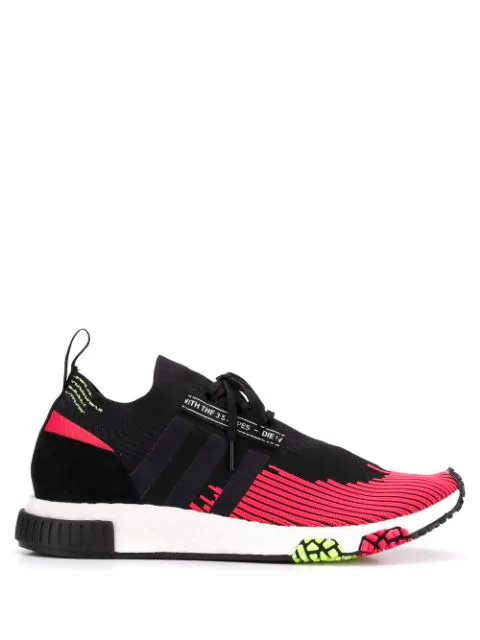 Adidas Originals Adidas Black And Red Nmd Racer Solar Sneakers