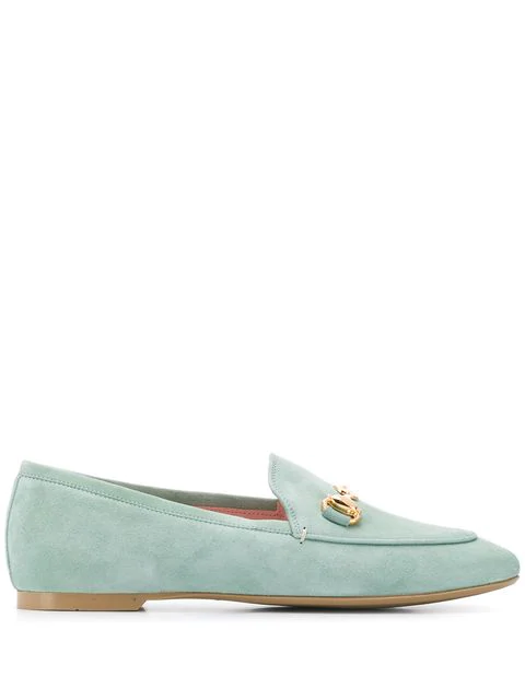 Pretty Ballerinas Horsebit Loafers In Green
