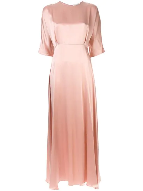 Mansur Gavriel Charmeuse Fine Dress In Pink