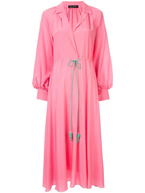 Anna October Midi Shirt Dress In Pink