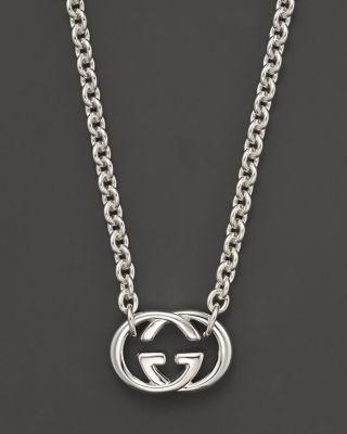 8f0cfbc104b Gucci Sterling Silver Britt Necklace