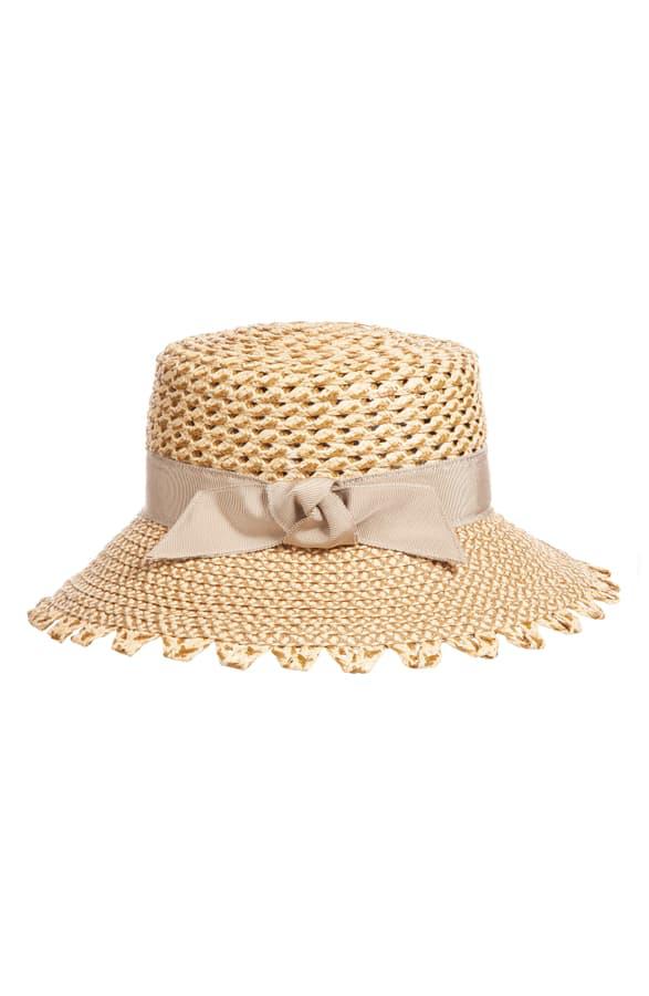 Eric Javits Montauk Squishee Sun Hat - Brown In Peanut