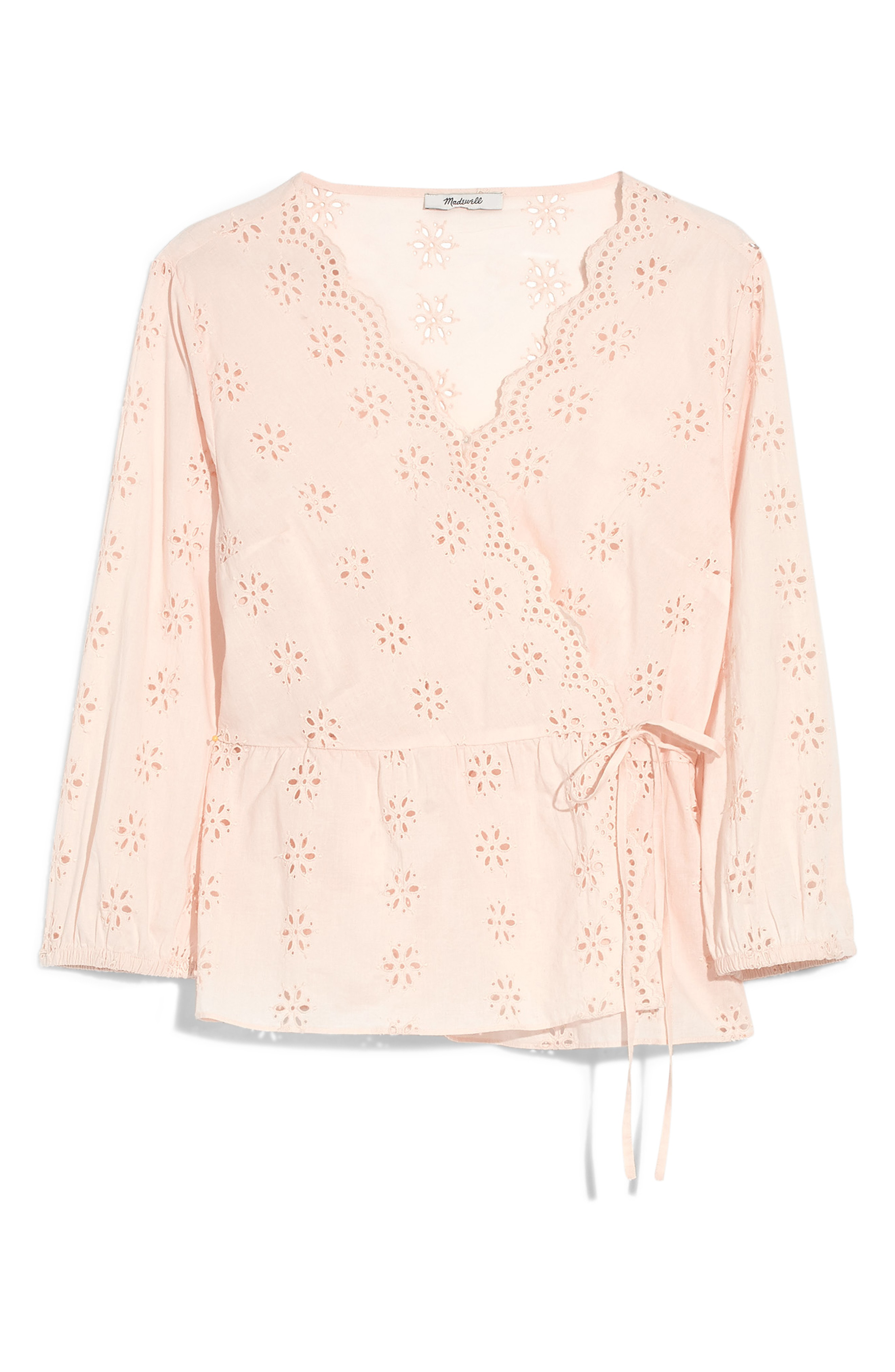 472c1e7e3d12 Madewell Scalloped Eyelet Wrap Top In Antique Lace | ModeSens