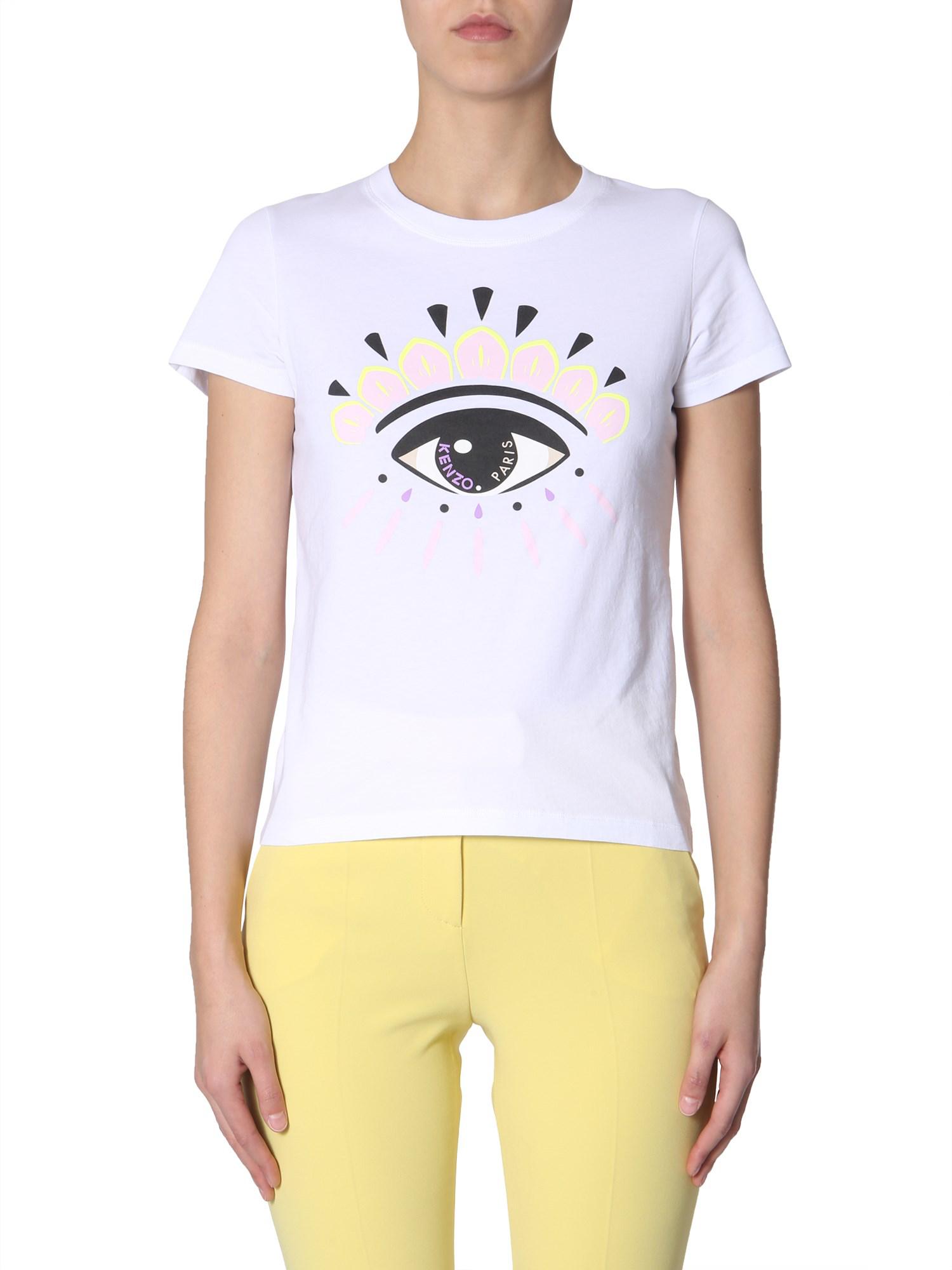 9ab4125fddc Kenzo Round Neck T-Shirt In White | ModeSens