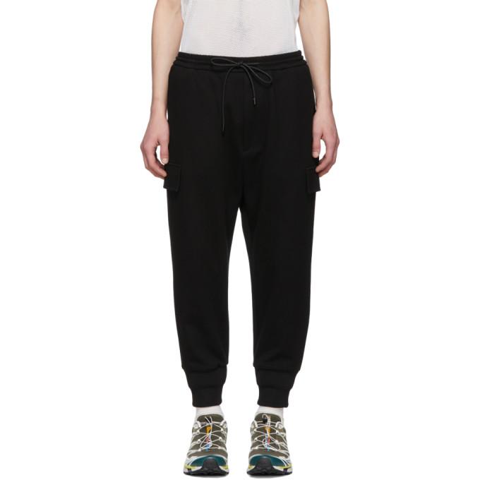 Juun.j Black Tapered Lounge Pants In 5 Black