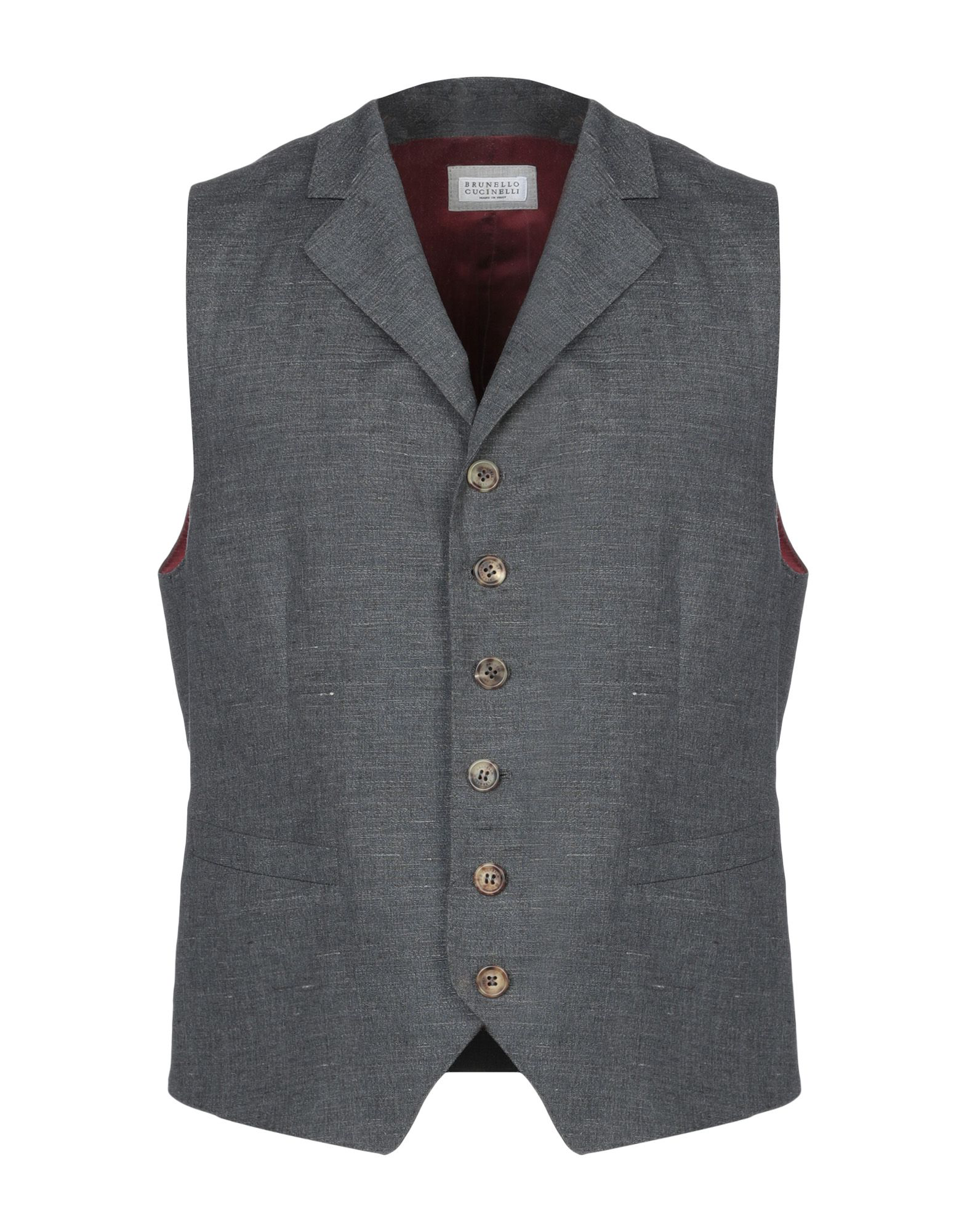 Brunello Cucinelli Suit Vest In Lead