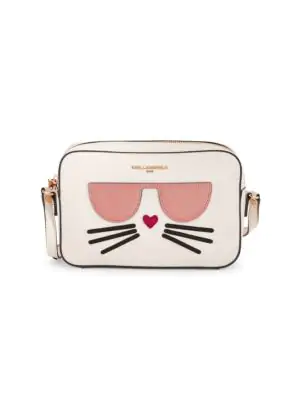 Karl Lagerfeld Maybelle Cat Shoulder Bag In Winter White
