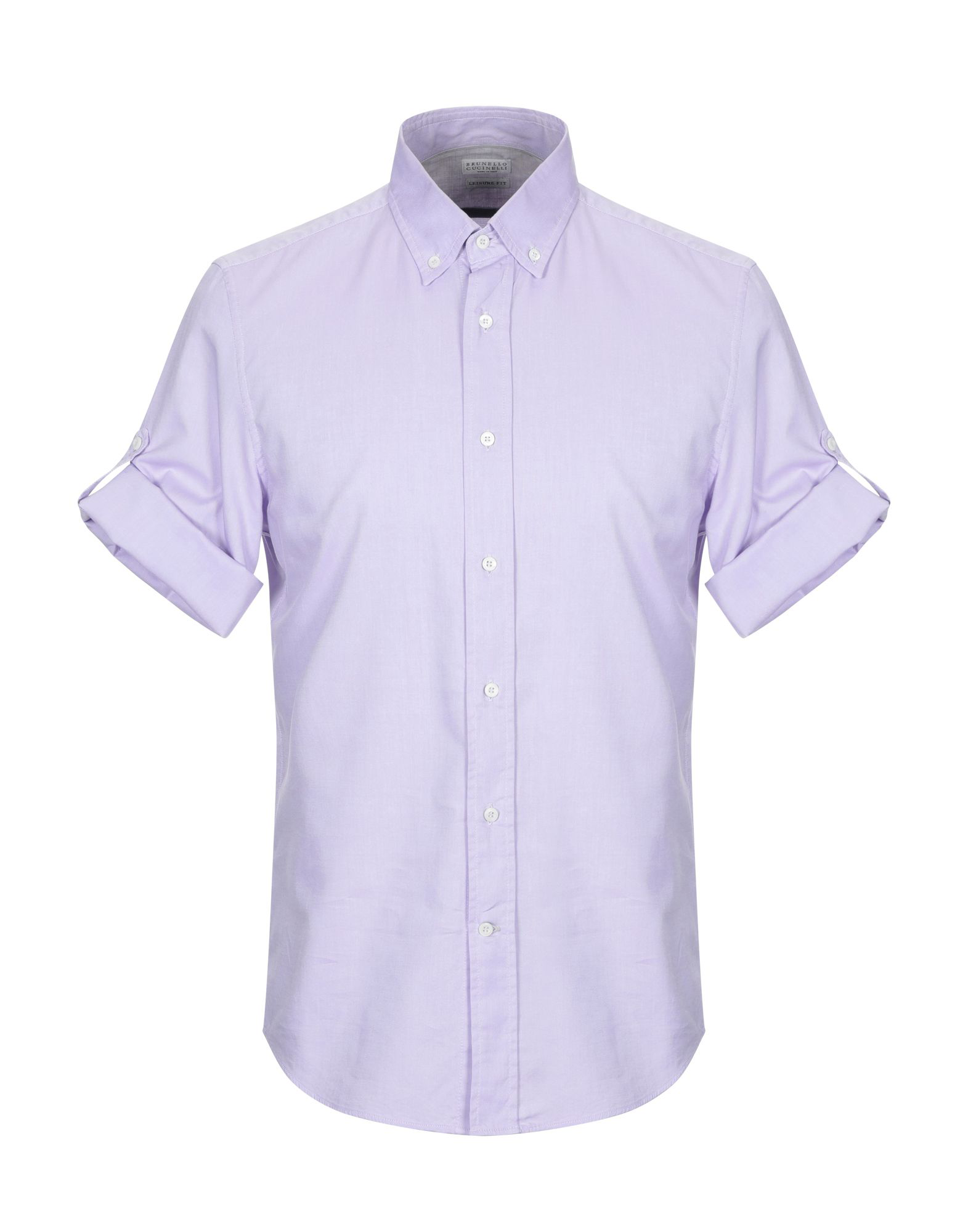 9f8678940189 Brunello Cucinelli Solid Color Shirt In Lilac | ModeSens