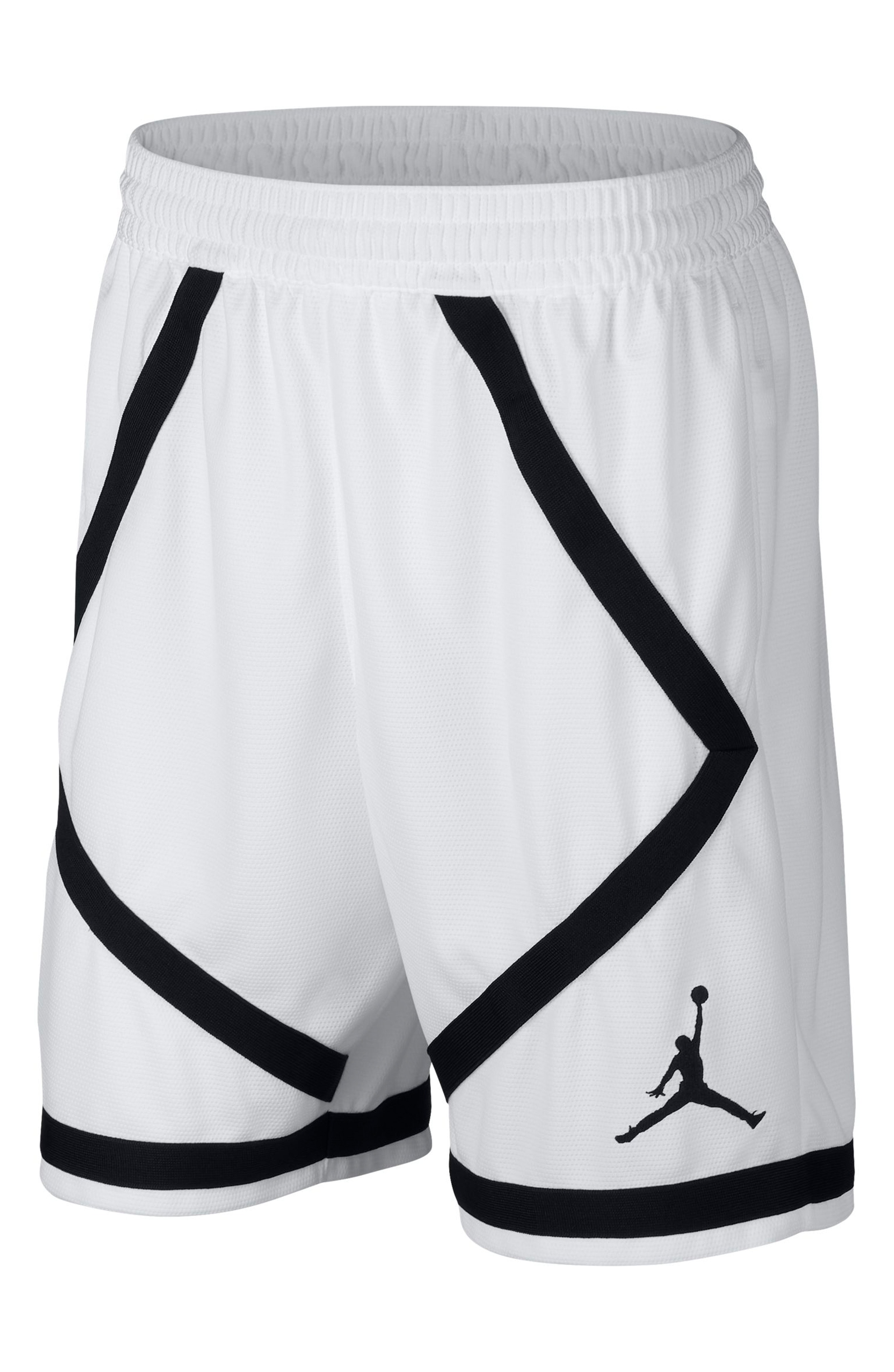 Jordan Dry Taped Basketball Shorts In White/ Black/ Black