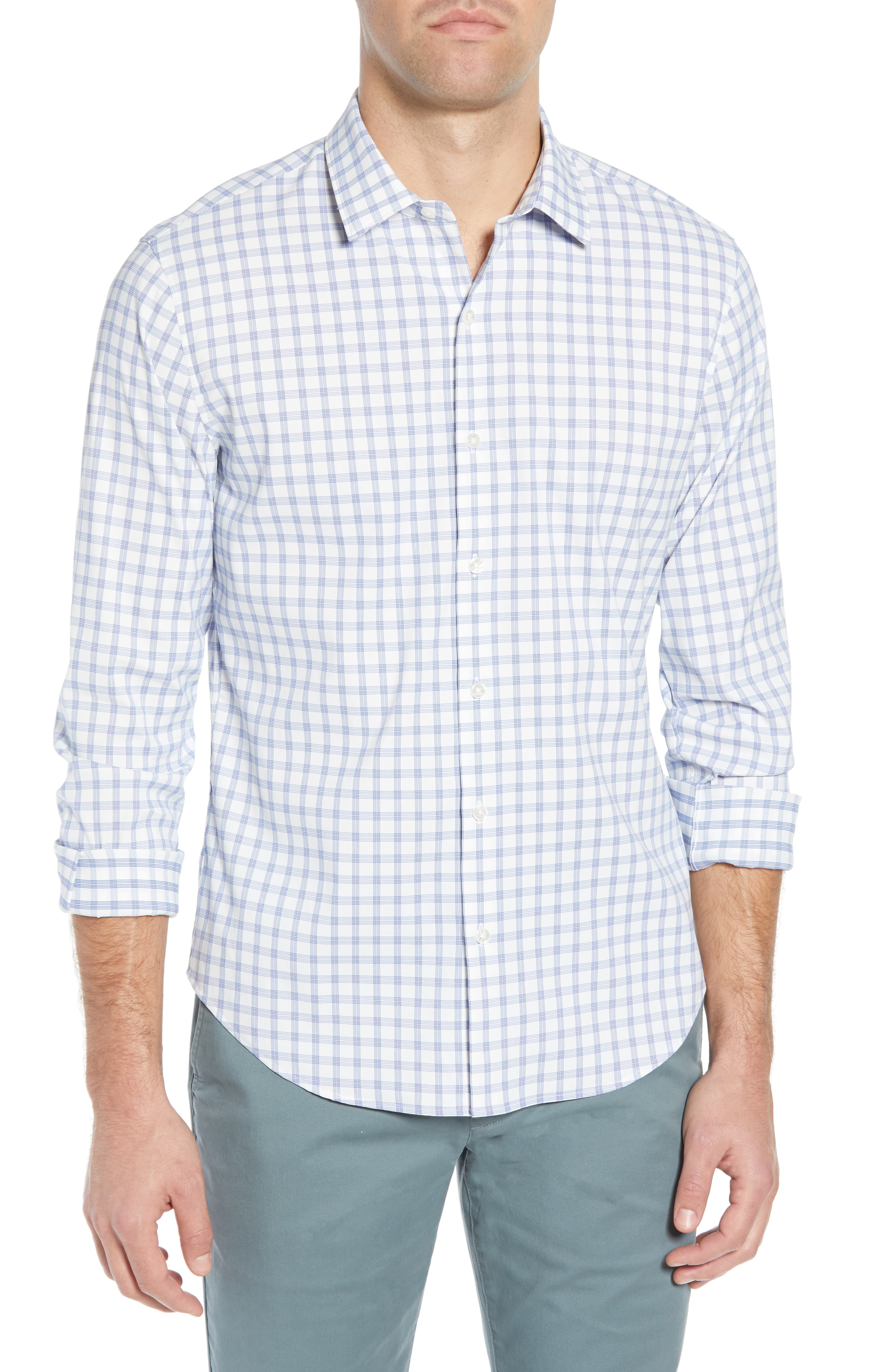 817c486cfe Bonobos Tech Slim Fit Check Sport Shirt In Gibbon Check - Casa Azul ...