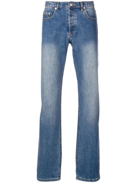 A.p.c. Mid-rise Straight-leg Jeans In Ial Indigod
