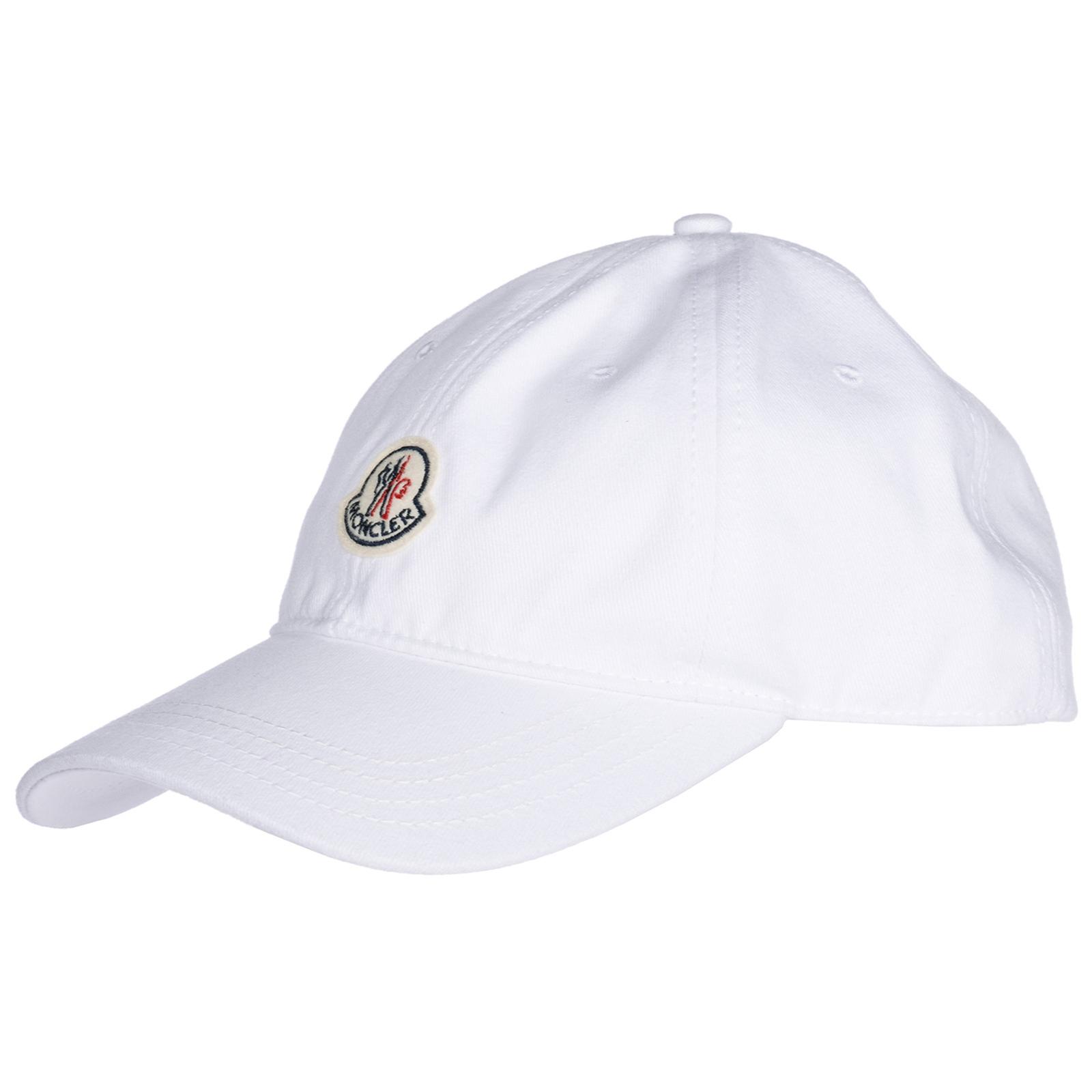 657a3509a2b Moncler Adjustable Men s Cotton Hat Baseball Cap In White