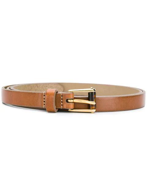 Dolce & Gabbana Tortoise Shell Detail Buckle Belt In Brown