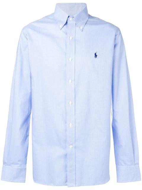 Polo Ralph Lauren Button Down Checked Shirt In Blue