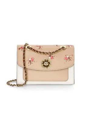 b31c2515 Parker Floral-Embroidered Leather Shoulder Bag in Multi