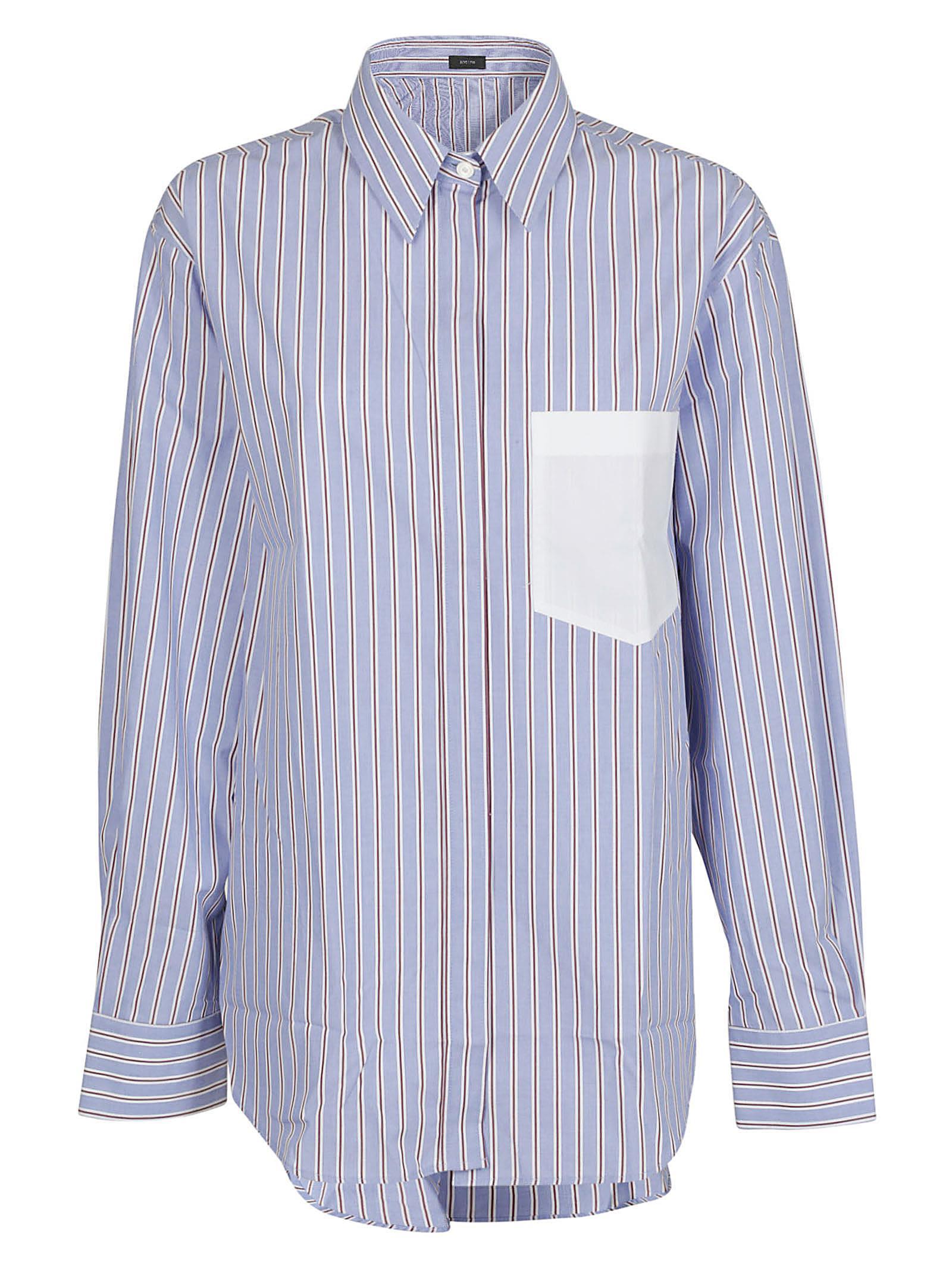 Joseph Shirt In Blu/Rosso