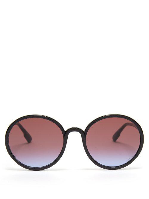 402728f7b4754 Dior Eyewear - Sostellaire1 Round Frame Acetate Sunglasses - Womens - Black