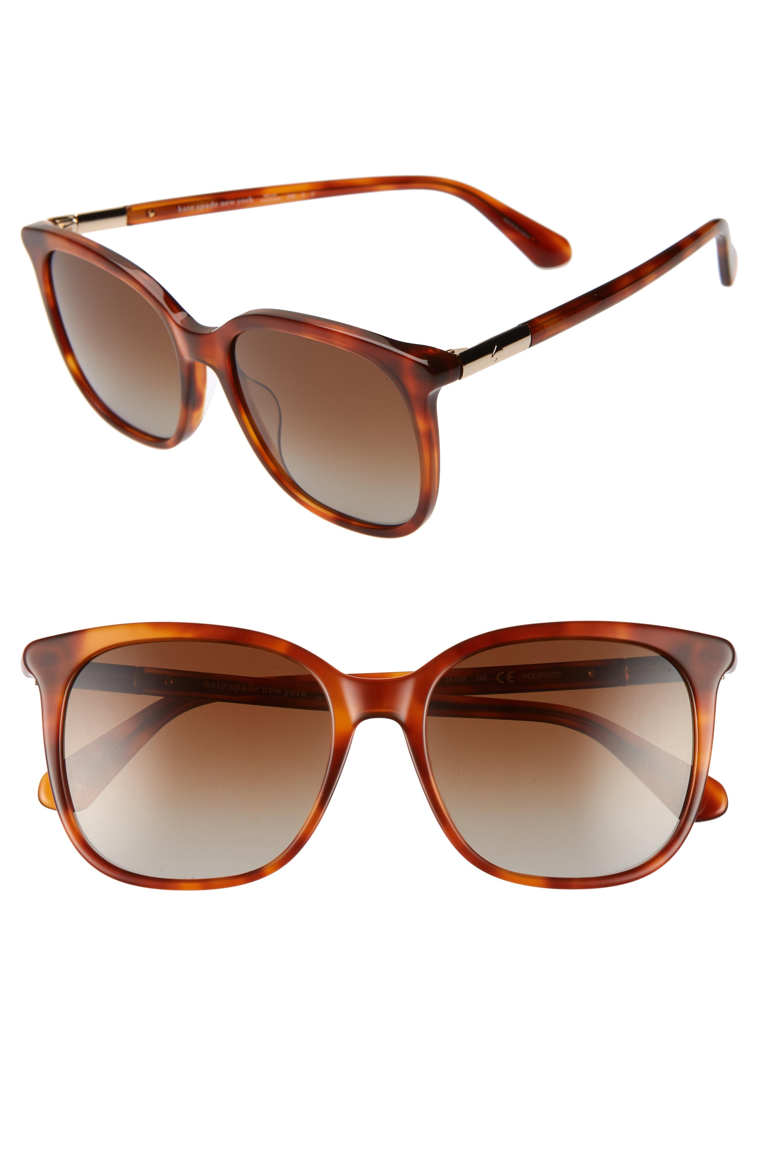 d013171c6e52b Kate Spade Caylin 54Mm Polarized Sunglasses - Brown