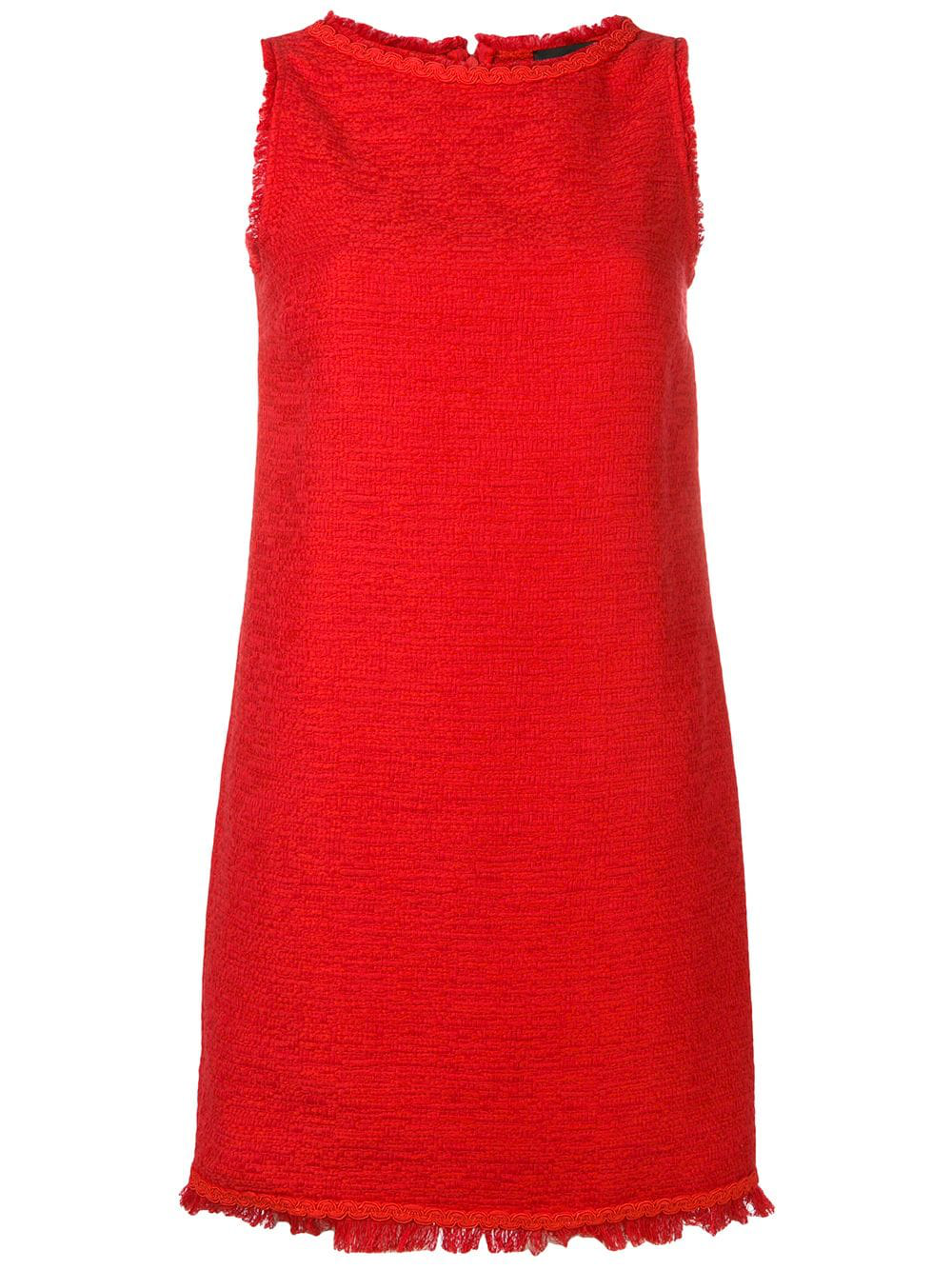 Red Tweed Dress
