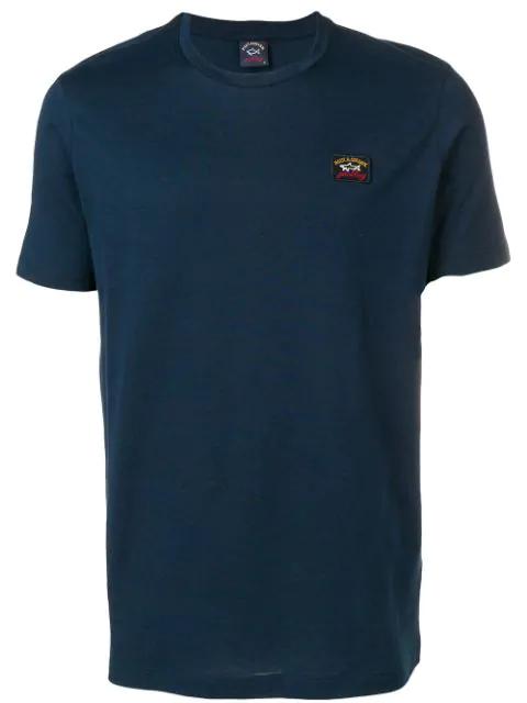 Paul & Shark Round Neck T-shirt In Blue
