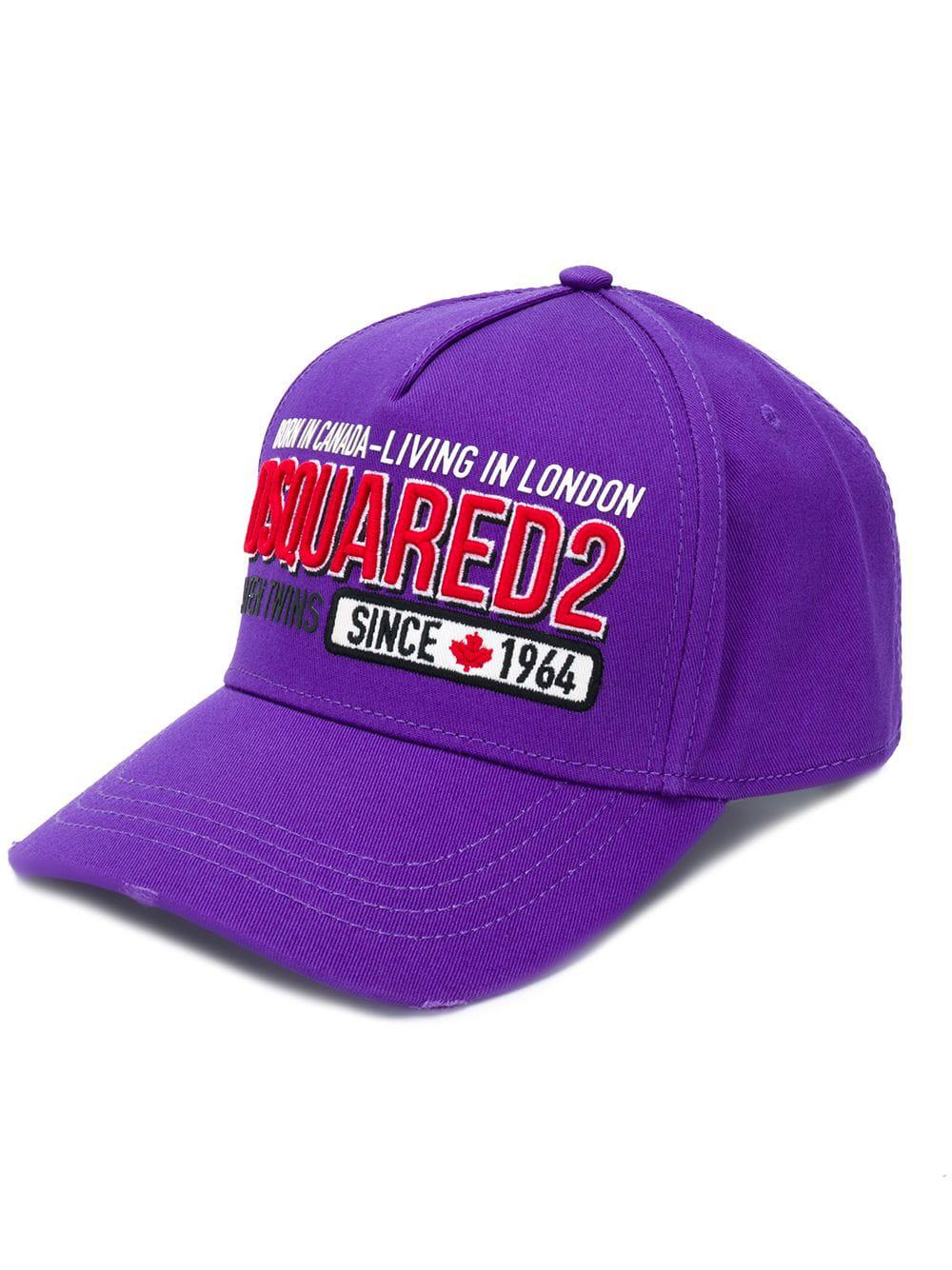 Dsquared2 Logo Patch Baseball Cap - Purple  a1641c43e499