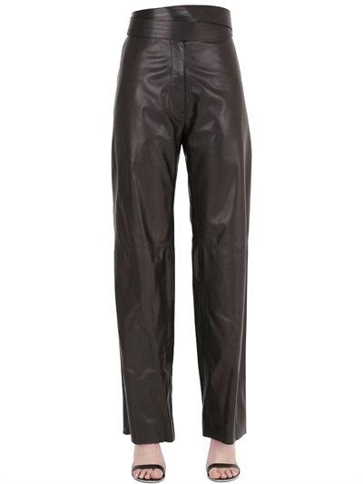Loewe Nappa Leather Pants In Black