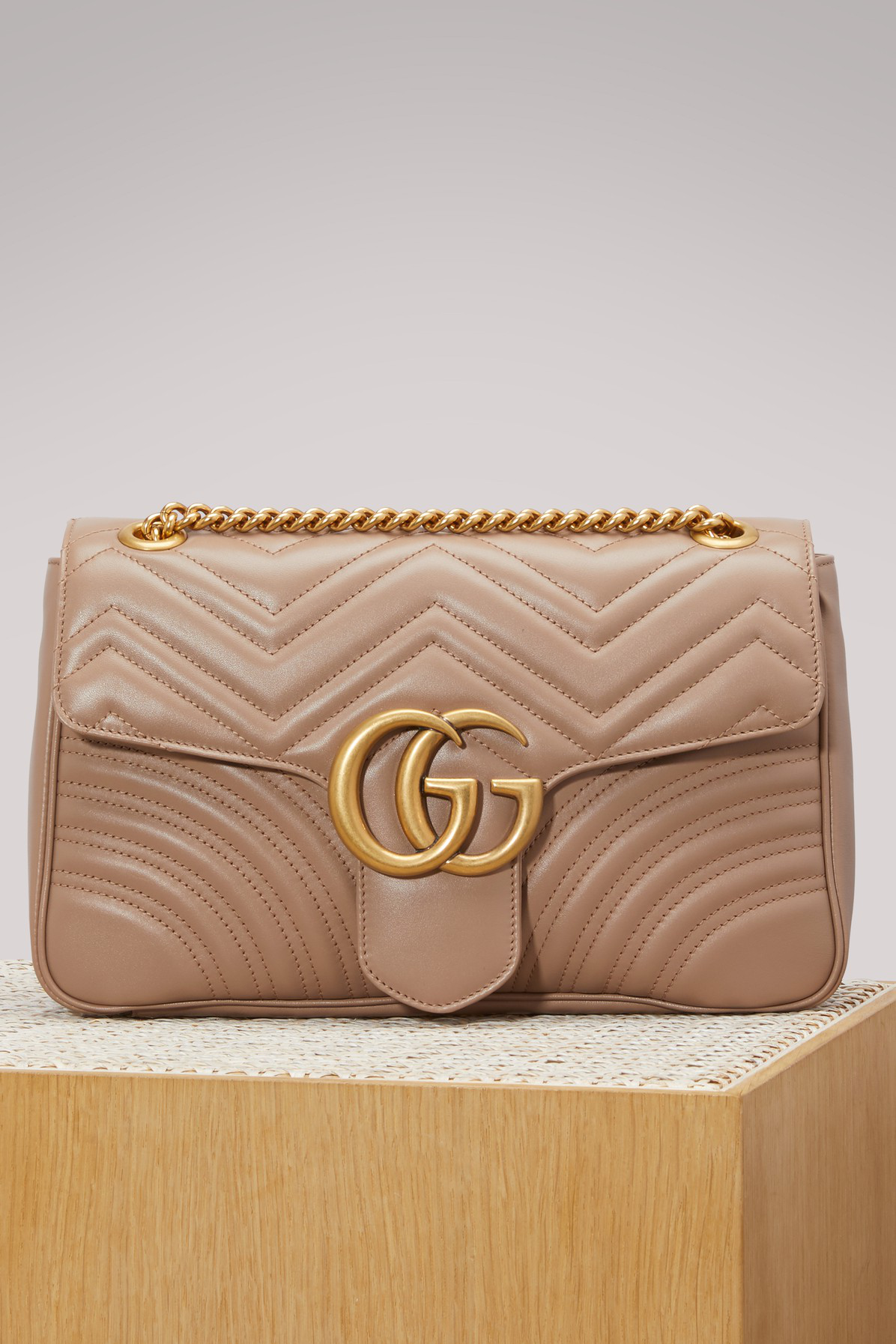 Gucci Gg Marmont MatelassÉ Shoulder Bag In Pink