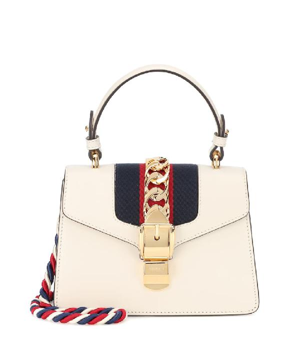 db6fda7ea6d Gucci Sylvie Small Top-Handle Satchel Bag In White
