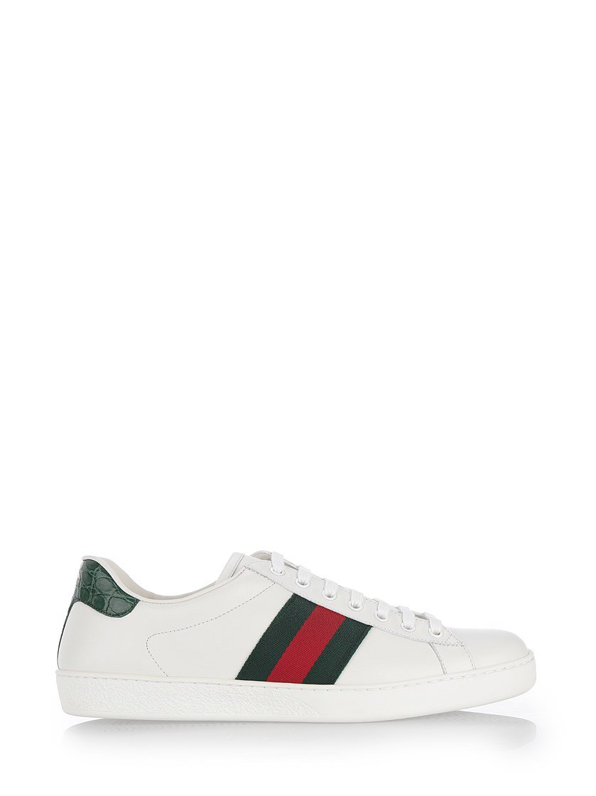 8815a281846 Gucci Ace Leather Sneakers In White. CETTIRE