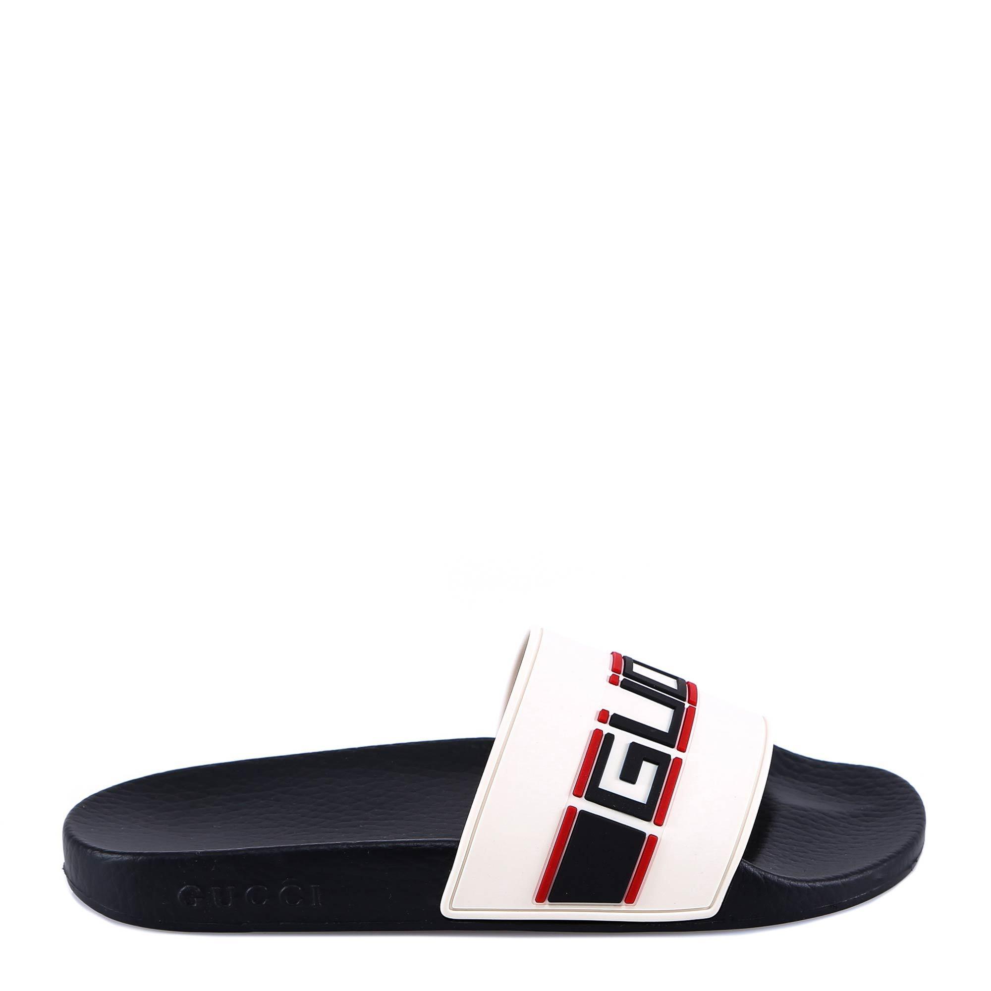 ef3c76cbde94 Gucci Women s Pursuit Stripe Slide Sandals In Cream