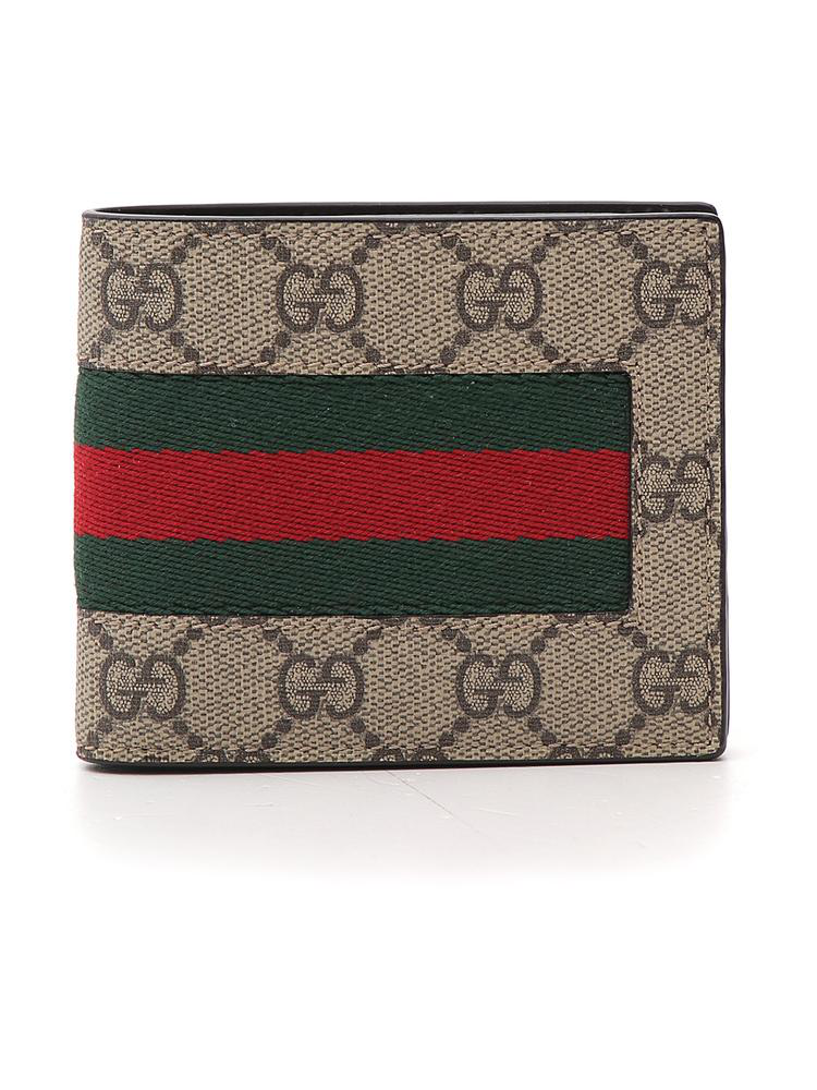 8061ff8df4b Gucci Gg Supreme Web Bifold Wallet In Multi