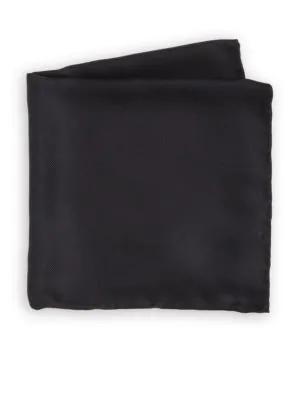 Saks Fifth Avenue Silk Twill Pocket Square In Black