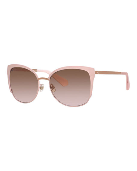 03199e3aa4e4 Kate Spade  Genice  57Mm Cat-Eye Sunglasses - Pink  Gold