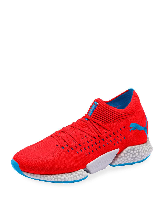 Puma Men's Future Rocket Knit Running Sneakers In Red ...