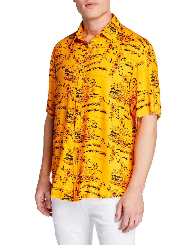 35a9630c0 Mauna Kea Men's Hawaii Island Short-Sleeve Shirt In Island Orange ...